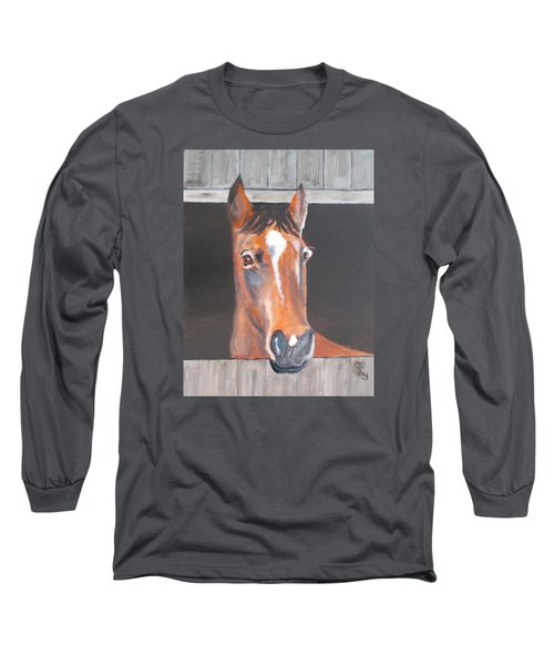 A Horse With No Name Long Sleeve T-Shirt by Carole Robins