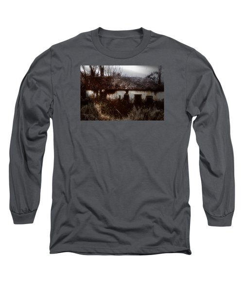 Long Sleeve T-Shirt featuring the photograph A House In The Woods by Mimulux patricia no No
