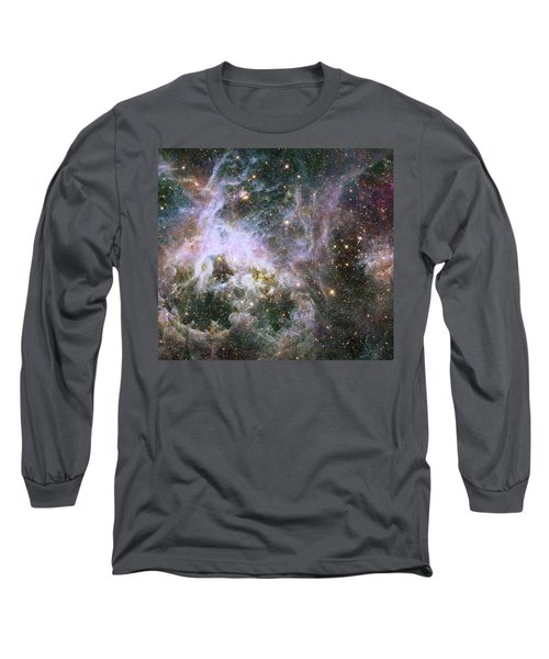 Long Sleeve T-Shirt featuring the photograph A Hubble Infrared View Of The Tarantula Nebula by Nasa