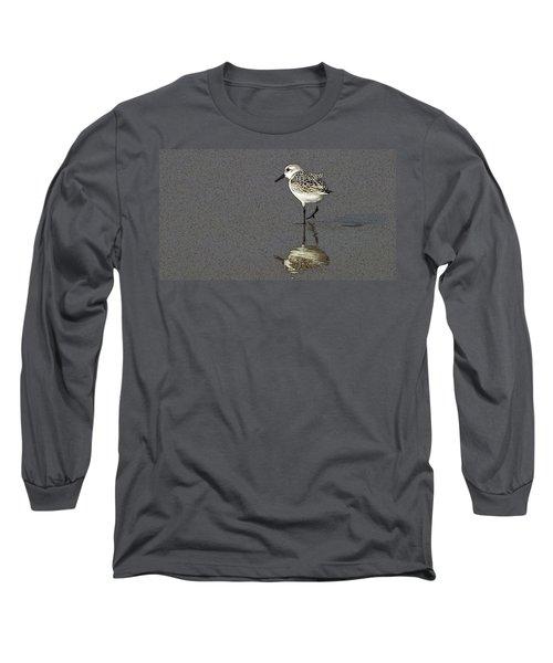 A Little Bird On A Beach Long Sleeve T-Shirt