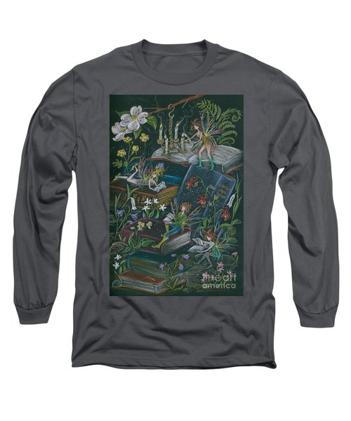 A Little Light To Read By Long Sleeve T-Shirt by Dawn Fairies