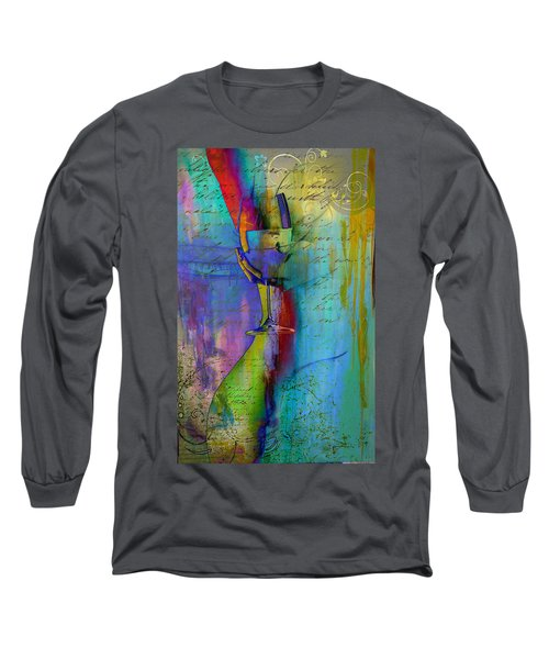 Long Sleeve T-Shirt featuring the digital art A Little Wining by Greg Sharpe