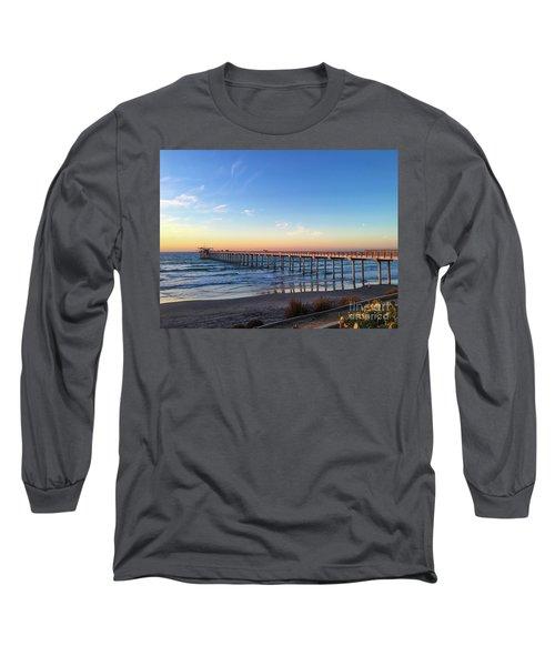 A Long Look At Scripps Pier At Sunset Long Sleeve T-Shirt