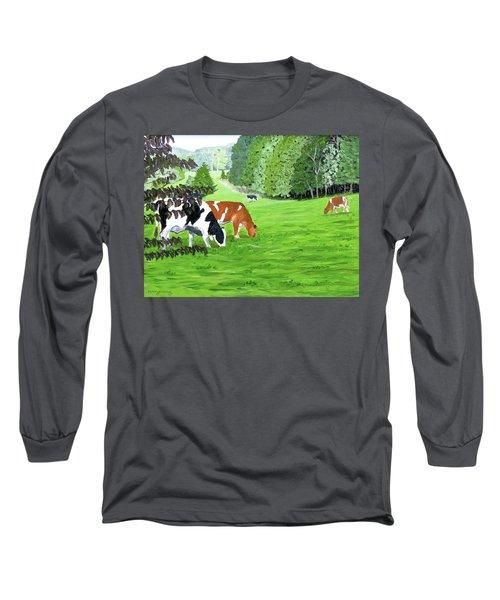 A Lush Summer Pasture Long Sleeve T-Shirt