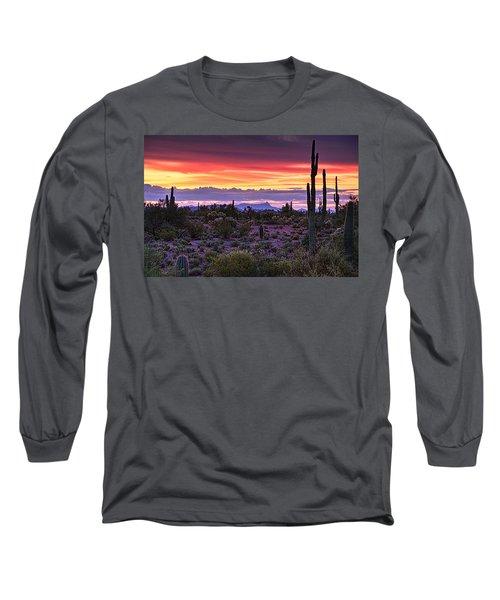 A Magical Desert Morning  Long Sleeve T-Shirt