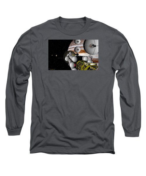 Long Sleeve T-Shirt featuring the digital art A Message Back Home by David Robinson