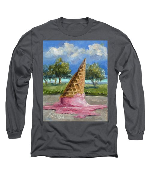 Long Sleeve T-Shirt featuring the painting A Mid Summer Tragedy by Billie Colson