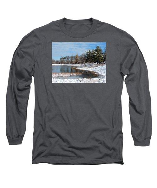 A Mild Winter Morning Long Sleeve T-Shirt by Teresa Schomig