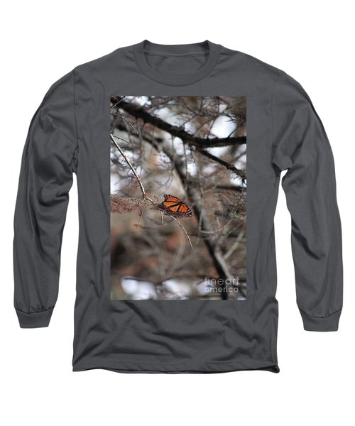 A Monarch For Granny Long Sleeve T-Shirt by Alycia Christine
