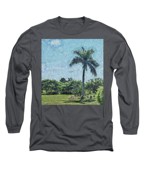 A Monet Palm Long Sleeve T-Shirt