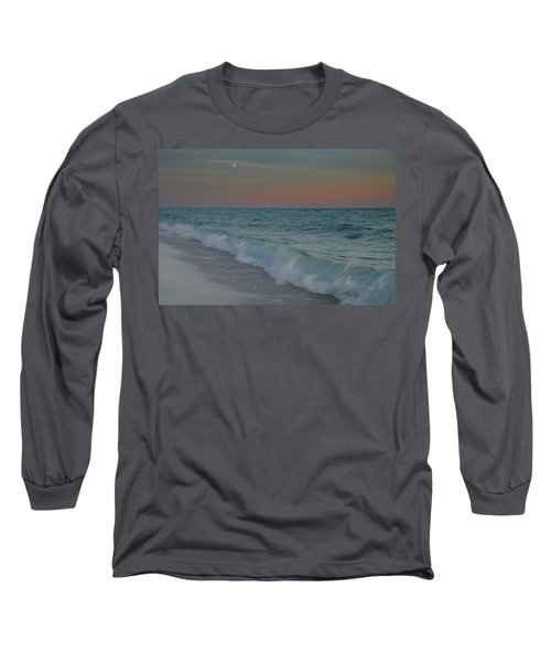 Long Sleeve T-Shirt featuring the photograph A Moonlit Evening On The Beach by Renee Hardison
