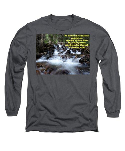 Long Sleeve T-Shirt featuring the photograph A Mountain Stream Situation 2 by DeeLon Merritt