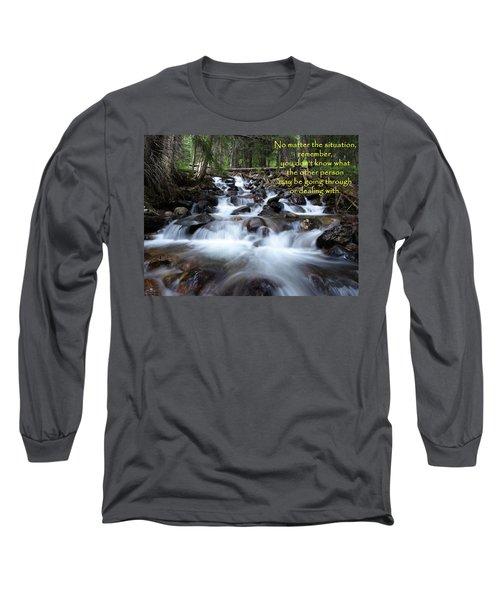 Long Sleeve T-Shirt featuring the photograph A Mountain Stream Situation by DeeLon Merritt