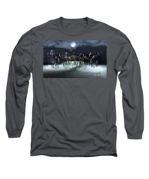 A Night Of Wild Horses Long Sleeve T-Shirt
