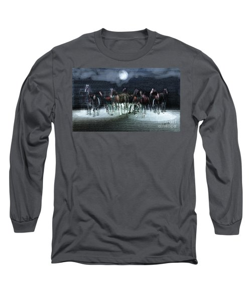 A Night Of Wild Horses Long Sleeve T-Shirt