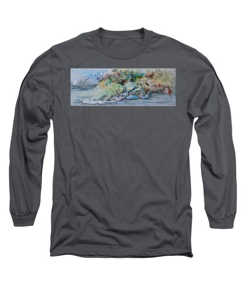 A Northern Shoreline Long Sleeve T-Shirt by Joanne Smoley