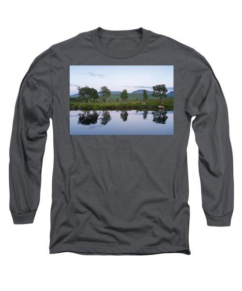 A Pastel Sky Over Loch Ba Long Sleeve T-Shirt