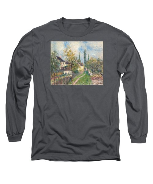 A Path At Les Sablons Long Sleeve T-Shirt