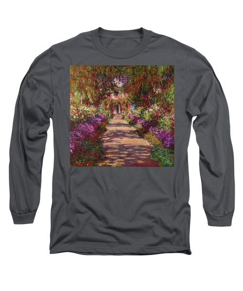 A Pathway In Monets Garden Giverny Long Sleeve T-Shirt