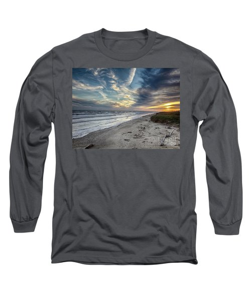 A Peaceful Beach Sunset Long Sleeve T-Shirt