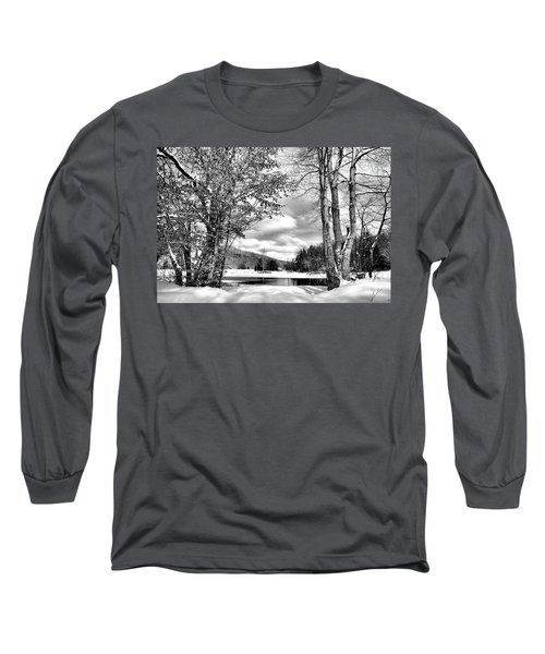 A Peek At Winter Long Sleeve T-Shirt by David Patterson