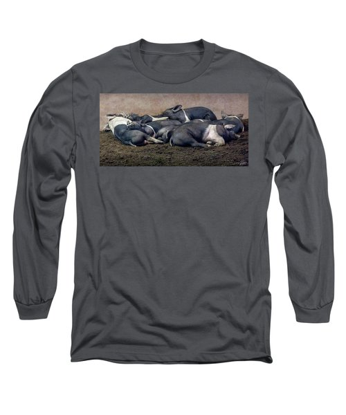 A Pile Of Pampered Piglets Long Sleeve T-Shirt