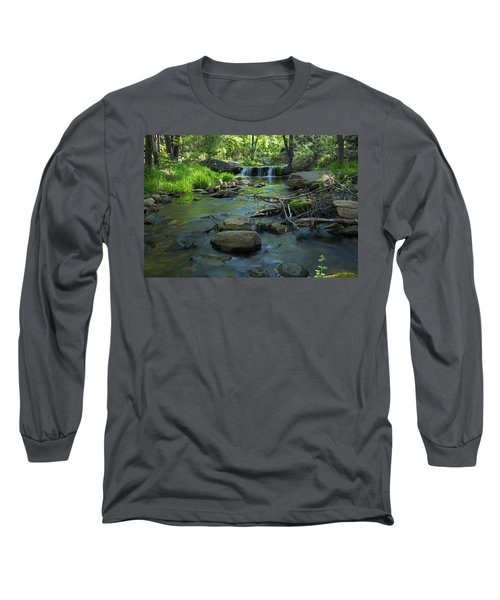 A Place Of Solitude Long Sleeve T-Shirt by Sue Cullumber