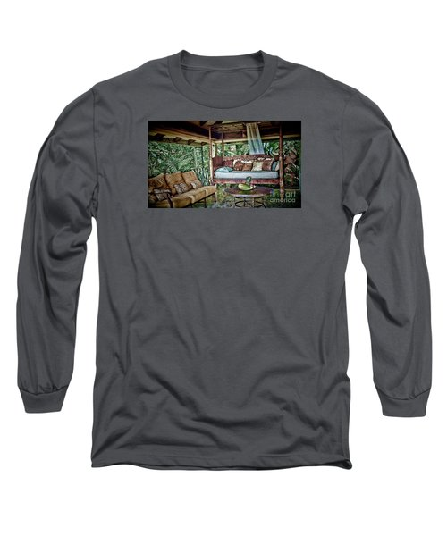 Long Sleeve T-Shirt featuring the photograph A Place To Retreat by Pamela Blizzard