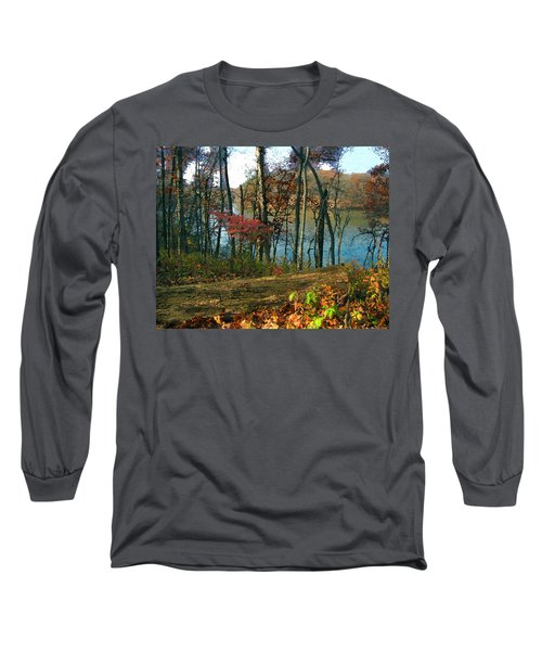 A Place To Think Long Sleeve T-Shirt by Cedric Hampton