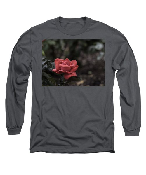 A Red Beauty Long Sleeve T-Shirt by Ed Clark