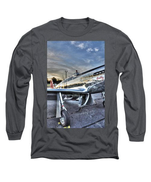 A Reflective Mustang Long Sleeve T-Shirt by David Collins