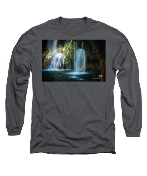 A Resting Place At Natural Falls Long Sleeve T-Shirt by Tamyra Ayles
