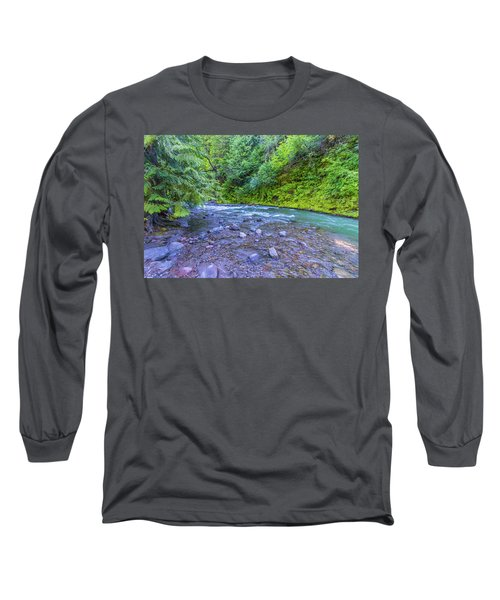 Long Sleeve T-Shirt featuring the photograph A River by Jonny D