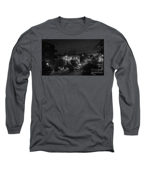 A Roman Street At Night Long Sleeve T-Shirt
