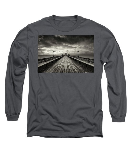 A Romantic Walk To The Past Long Sleeve T-Shirt by Dominique Dubied
