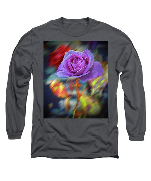 Long Sleeve T-Shirt featuring the photograph A Rose by Vladimir Kholostykh