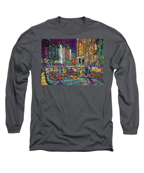 A San Antonio Christmas Long Sleeve T-Shirt by Patti Schermerhorn