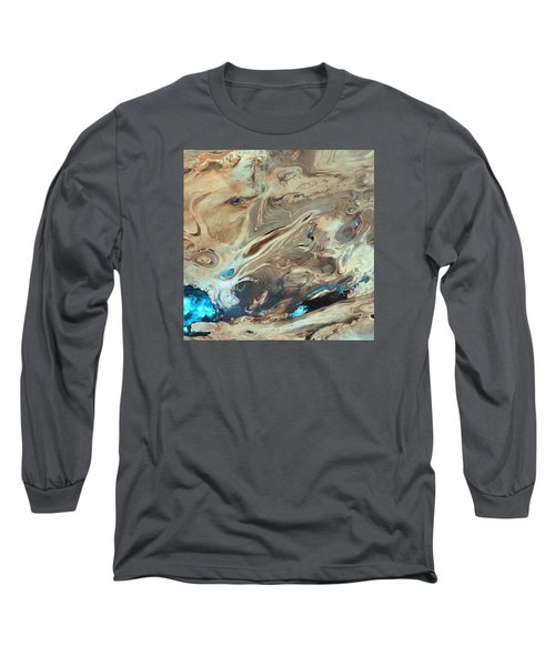 A Satellite Picture Of The Dasht-e Kavir Desert In Iran. Long Sleeve T-Shirt