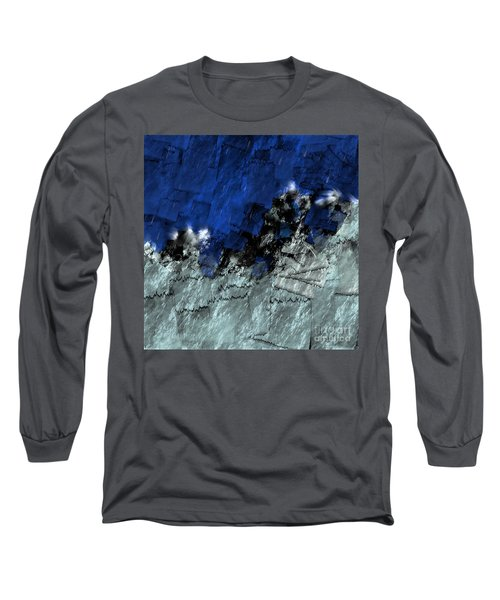 Long Sleeve T-Shirt featuring the digital art A Sea Storm In My Heart by Silvia Ganora