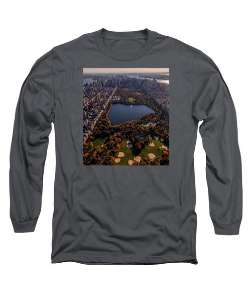 Long Sleeve T-Shirt featuring the photograph A Slice Of New York City  by Anthony Fields