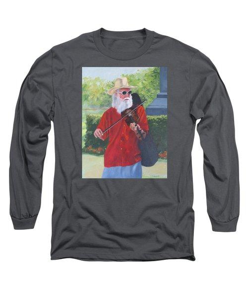 A Slim Fiddler For Peace Long Sleeve T-Shirt