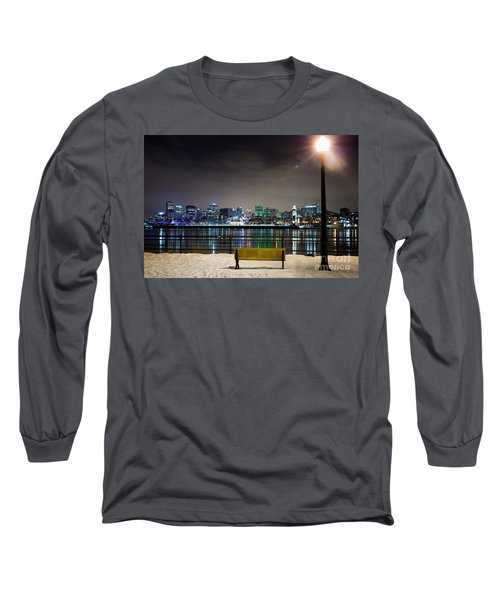 A Snowy Night In Montreal  Long Sleeve T-Shirt