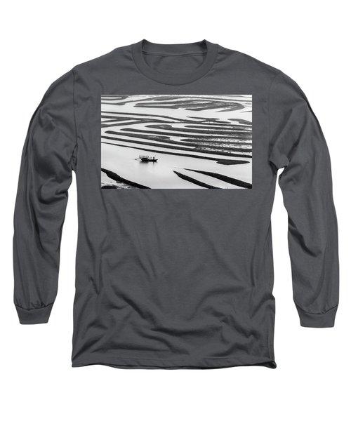 A Solitary Boatman. Long Sleeve T-Shirt