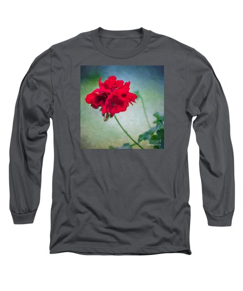 A Splash Of Red Long Sleeve T-Shirt by Betty LaRue