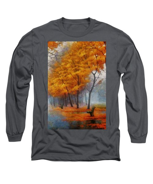 A Stand For Autumn Long Sleeve T-Shirt by Mario Carini