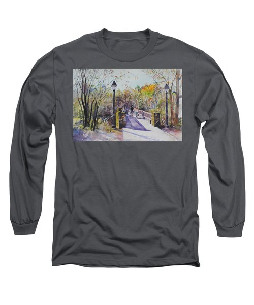 A Stroll On The Bridge Long Sleeve T-Shirt by P Anthony Visco