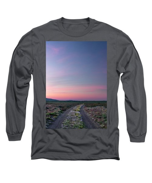 Long Sleeve T-Shirt featuring the photograph A Sunrise Path by Leland D Howard