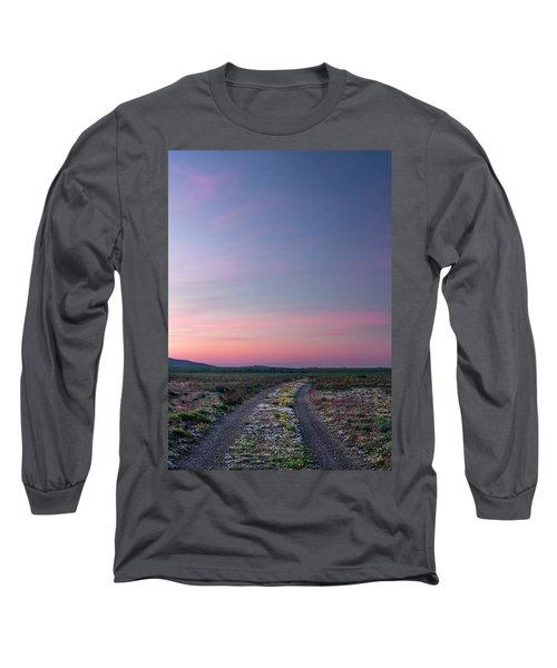 A Sunrise Path Long Sleeve T-Shirt by Leland D Howard