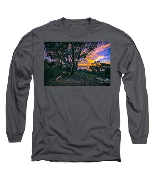 A Swinging Sunset From The Secret Swings Of La Jolla Long Sleeve T-Shirt