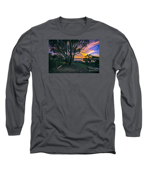 A Swinging Sunset From The Secret Swings Of La Jolla Long Sleeve T-Shirt